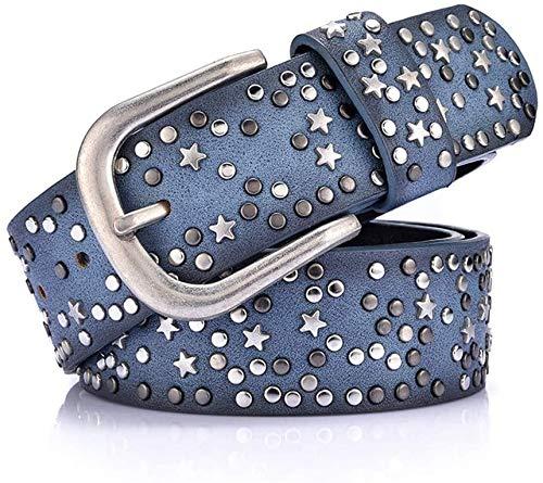 Riemen Women Waist Belt Leer van Vrouwen Omkeerbare Riem for Jeans jurk broek Casual Ladies Belt (Kleur: Groen) (Color : Blue)