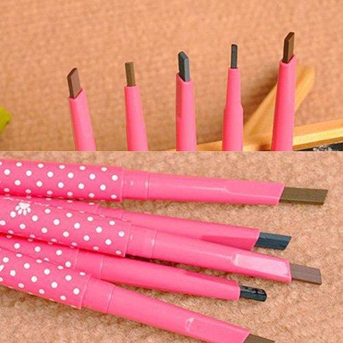 XdiseD9Xsmao Crayon à Sourcils De Longue Durée Portatif Auto-rotatif Durable Crayon Stylo Bille Maquillage Outil Cosmétique café