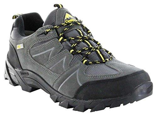 ConWay Outdoor-Trekking-Wanderschuhe grau TEX-Membrane Herren Schuhe Sentis, Farbe:grau, Größe:46 EU