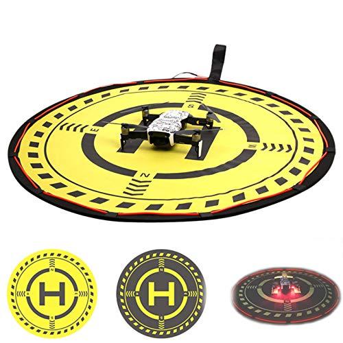 O'woda Drone Landing Pad con luci LED 70 cm Impermeabile Pieghevole Piattaforma Gomma Soft Superficie Pista di Atterraggio per DJI Mavic Air 2/Mini/Mavic 2/Air/PRO/ Spark/ Phantom 3/4 Accessories