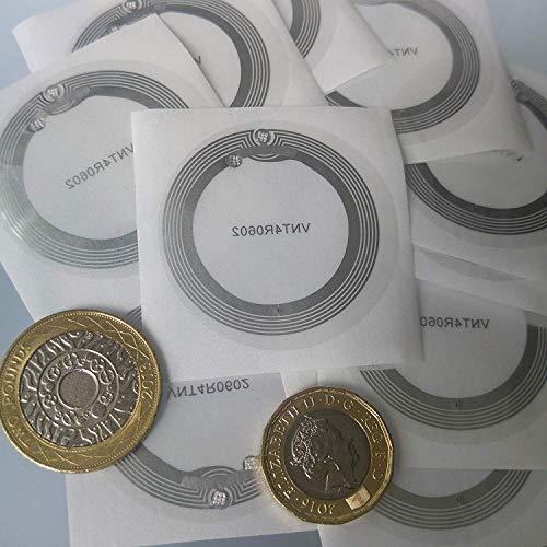 10 x NFC-tags | NXP Chip NTAG213 | 144 bytes opslagruimte | ronde transparante tags | sterke sticker | brede antenne | hoge scankracht en ultra slim design