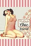 Retro Chic Pink: Vintage Pin-Up Girl Journal Art Deco Beach Blank Book...
