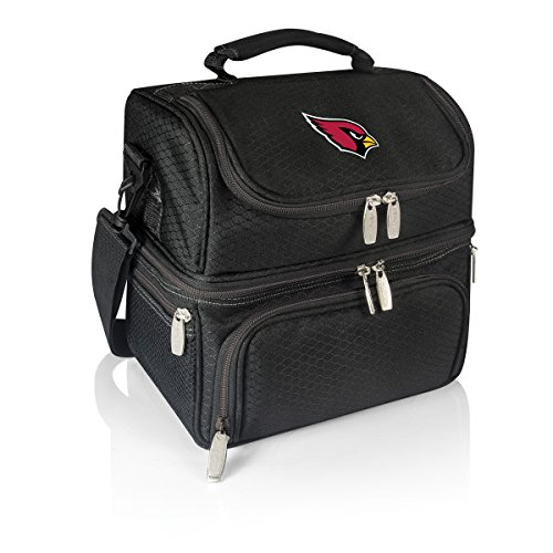 PICNIC TIME NFL Arizona Cardinals Pranzo Insulated Lunch Tote with Service for One, Black