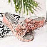 ypyrhh Sandalias de Playa Plataforma Zapatilla,Cuñas,Strement,Flores,Zapatos de Playa Huecos-Rosa_35,Planas Zapatos de Playa y Piscina