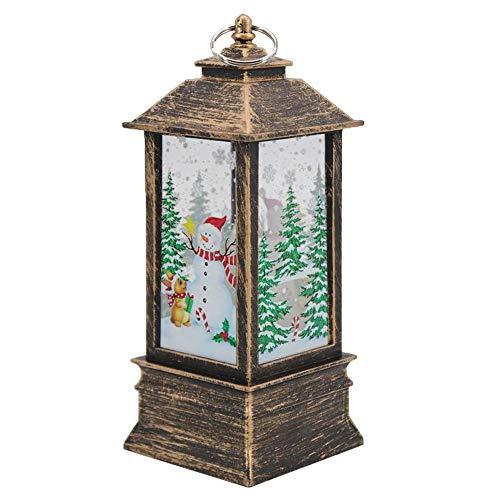 Grandi decorazioni natalizie luci, 1 candela natalizia vintage con luci a LED, candela a fiamma Lampion per feste di Natale, matrimoni, giardini, decorazione della casa