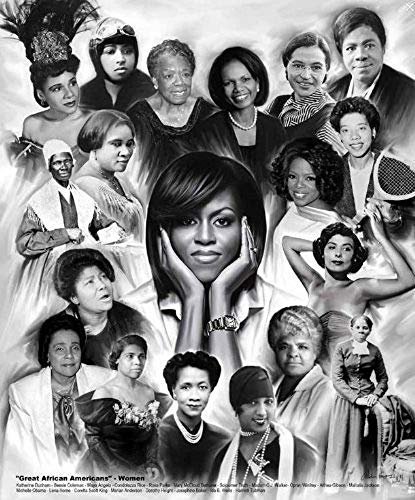 Laminated Great African American Women by Wishum Gregory, Obama Rice Parks Winfrey (20x24)
