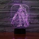 Game Overwatch Table Lamp Night Light Usb Jesse Mccree Figure Room Decor Night Light Christmas Kids Gift OW 3D Table Lamp Child