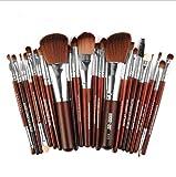 Margo, 22 cepillos de maquillaje, accesorios de madera, herramientas de maquillaje.