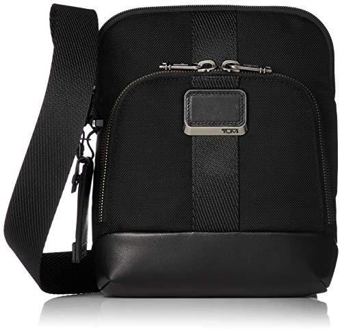 TUMI - Alpha Bravo Barksdale Crossbody Bag - Leather Satchel for Men and Women Black Size: One Size