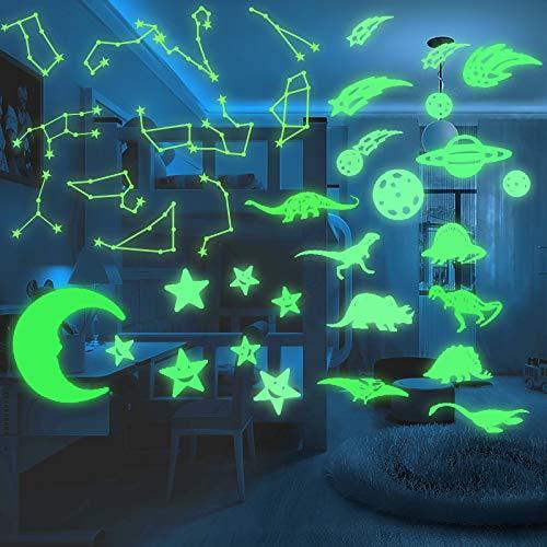 38 pegatinas de pared pegatinas luminosas, pegatinas de pared fluorescentes, disfruta de la sensación de estar cubierto por los sueños