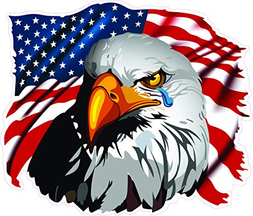 American Flag Eagle Crying Decal 5' from The United States