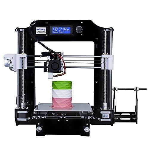 INFITARY RepRap Prusa i3 fai da te stampante 3D Kit, Rapid Prototyping non installato tridimensionale FDM la stampa 3D
