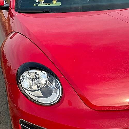 KJHDKJFH 1 Paar Auto Scheinwerfer Augenbrauen Abdeckung Trim Decal Dekor Scheinwerfer Augenbrauen Carbon Fiber schwarz Aufkleber.Für VW Käfer 2012-2018