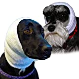 The Original Happy Hoodie for Dogs and Cats, The Grooming and Force Drying Miracle for Anxiety Relief and Calming Dogs White 2 Pack (1 Small, 1 Large)