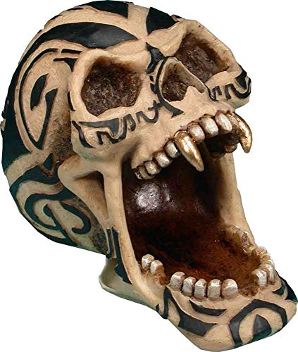 Nose Desserts Halloween Tribal Tattoo Demon Devil Vampire Skeleton Skull - Open Mouth - Gifts and Decor Home Bust Statue Brand