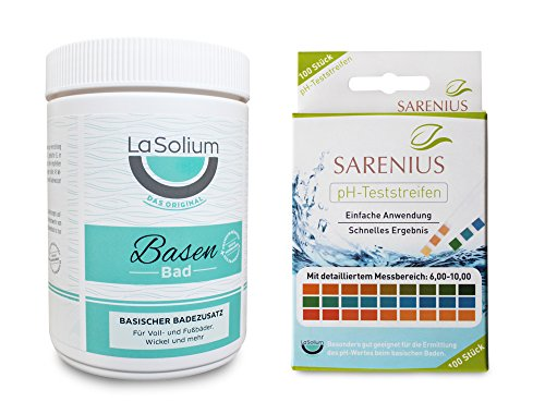 Basisches Entschlackungsbad mit Mineralerde/Kaolin (650g) + pH-Teststreifen (Messbereich 6-10) – Basenbad Starter-Paket