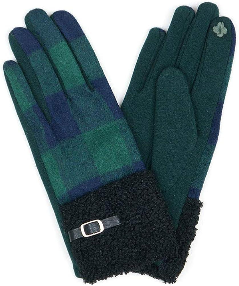 ScarvesMe Women's Winter Buffalo Check Plaid Smart Touch Screen Gloves