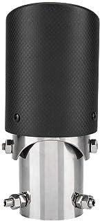 Alupre Carbon Faser Art Auto justierbarem einzelne Outlet Auspuff Schalldämpfer Spitze Schwanz Throat 63 89mm
