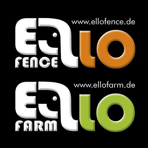 Ellofence Paddock-Weidezaun-Starterset: mit Weidezaungerät, Weidezaunband, Erdpfahl, Isolatoren und Tester - 8