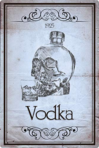 Generisch metalen bord 20x30cm poster Vodka 1925 Wodka Retro metalen bord Vintage