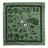 Animal Tracking Bandana / Scarf / Handkerchief / Facemask | 21 Common North American Animal Tracks Found In Nature | 100% Cotton | MADE IN USA!