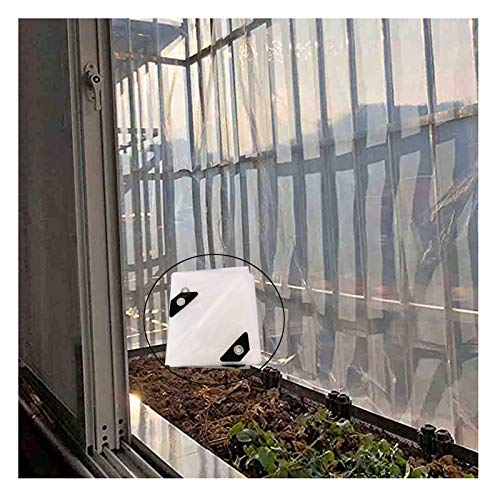 SHIJINHAO Lonas Impermeables Exterior,Lona Transparente Impermeable con Ojales Toldos Y Lonas Resistentes A La Intemperie Contienen Elástico para Muebles De Jardín Plantas De Invernadero, 26 Tamaños