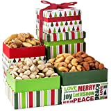 Oh! Nuts Christmas Nut Gift Towers, Gourmet Holiday Assortment Tower Gifts Box For Men Women Families Prime Food Baskets Delivery Traditional Family Healthy Ideas Delivered By Tomorrow