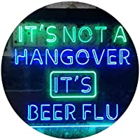 Not Hangover Beer Flu Bar Club Dual Color LED看板 ネオンプレート サイン 標識 緑色 + 青色 600 x 400mm st6s64-i3551-gb