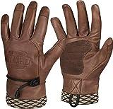 Helikon-Tex Woodcrafter Gloves, Brown Leather, Large, Bushcraft Line