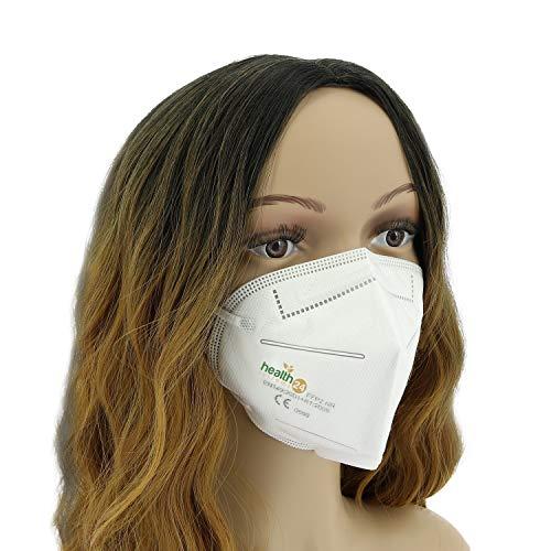 FFP2 Atemschutzmaske 20 Stück Packung einzeln Verpackt CE-Zertifizierte Atem Maske DEVELLE Schutzmaske für alle Bereiche - 3