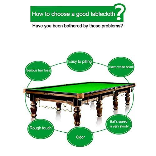 Equival - Mantel de fieltro para mesa de billar, para mesa de billar de 8 pies, a elegir entre verde inglés, mezcla de palabras de velocidad rápida, mesa de billar de fieltro atractivo