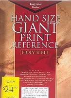 The Holman KJV Giant Print Reference Bible: King James Version Giant Print Reference Bible Black Genuine Leather