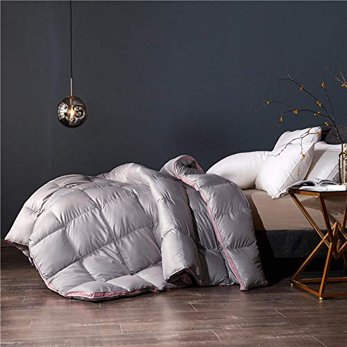 Coral Vaughan 2 Tog Double Duvet,Duvet Core Winter Quilt Thickened 95 White Goose Down Spring And Autumn Quilt Winter Double Duvet-180x220 4000g_three-Dimensional Duvet Silver Grey