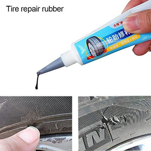 Youbeny Leistungsstarker Reifenkleber, mächtiger Reifenreparaturkleber Reifen-Sofort-Trockenkleberbindung, für Motorrad-Fahrradauto-Reifenreparatur-Patch Schnelle Reparatur
