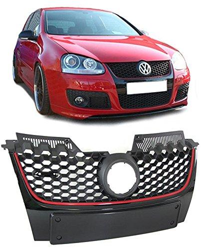 Carparts-Online 26551 GTI Waben Grill Kühlergrill für Emblem + Nummernschildhalter