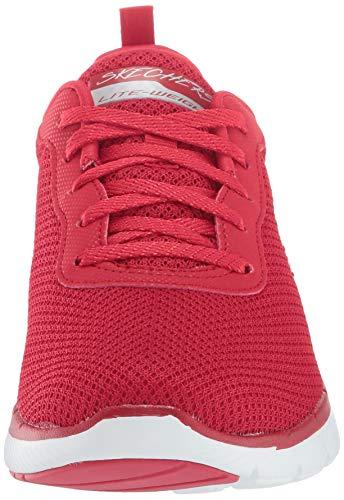 Skechers - Flex Appeal 3.0 - First Insight - Zapatillas deportivas para mujer, Rojo (Rojo), 39 EU