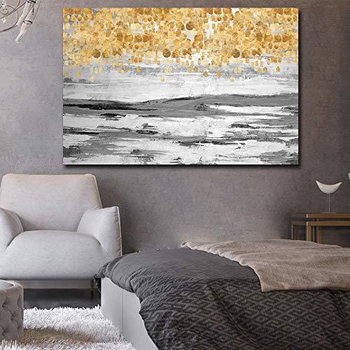 Gold und abstrakte Leinwand Wanddrucke Familie Wohnzimmer Dekoration Malerei Leinwanddrucke Malerei60x40cmohne Rahmen