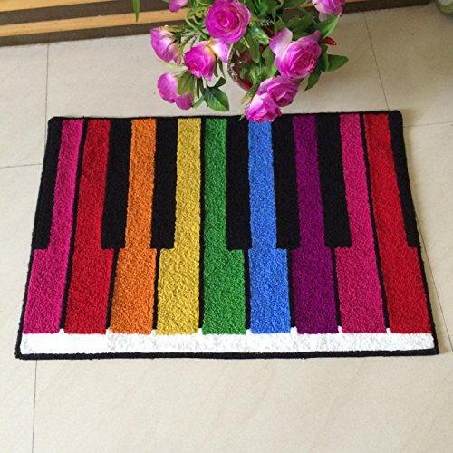 GRENSS Zone de Tapis Piano Cordes colorées Porte Design Tapis Tapis Tapis de Salle de séjour Chambre à Coucher pour Cartoon Tapis et moquettes,550mm x 800mm