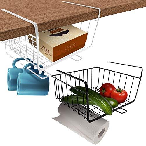 Under Shelf basket | Under Shelf Wire Storage/Organizer | Undershelf Cabinet | Wire Rack | Hanging...