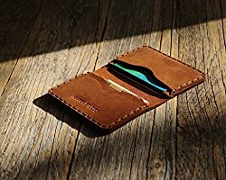 Braunes Leder Ausweishülle Geldbörse Portemonnaie, langlebige Aufbewahrung von ID, Kreditkarten und Banknoten,...