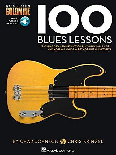 100 Blues Lessons: Noten, Lehrmaterial, Grifftabelle für Bass-Gitarre (Bass Lesson Goldmine)