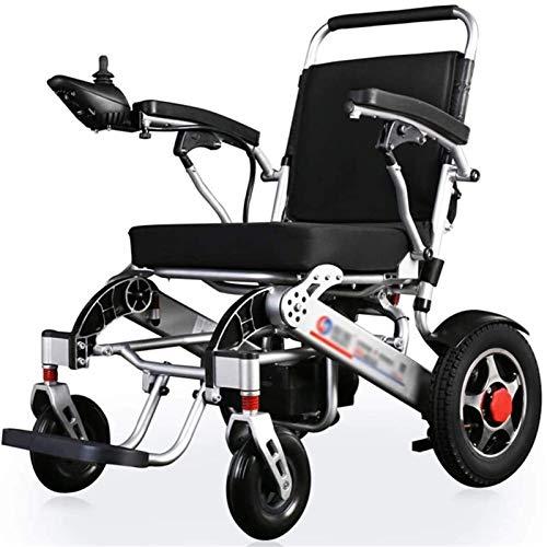 Silla de Ruedas eléctrica Plegable, Pesado Silla de ruedas eléctrica, plegable, 29kg silla de ruedas ligera de alimentación, 360 ° Rocker, Anchura del asiento 45 cm, 4 silla de ruedas eléctrica Amorti