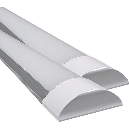 Pack 2X Lampe Luminaire 120cm. 40w. Couleur blanc froid (6500K). 4000 lumens. IP44. Facile à nettoyer.
