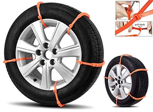 Green Blue GB134 Universal Auto Nylon Schneeketten Anti-Rutsch-Reifenketten Rutschfest Wiederverwendbar 10 Stück 165-285mm