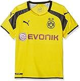 PUMA Kinder Trikot BVB international Replica Shirt with Sponsor Logo, cyber yellow-Black, 176