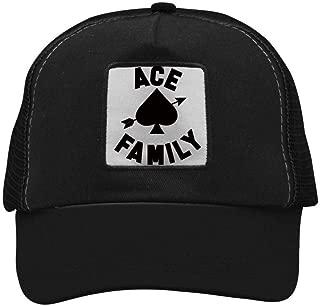 Ace-Family Mesh Caps Adjustable Unisex Snapback Trucker Cap