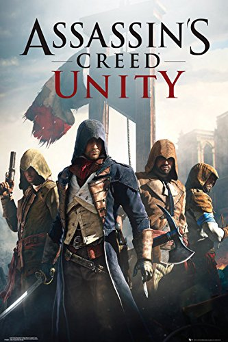 Poster Assassins Creed Unity - Cover - 61 x 91.5 cm | PostersDE
