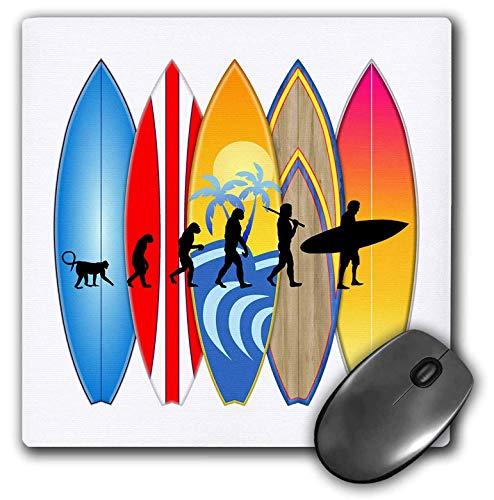 AEMAPE Alfombrilla de ratón Funny Evolution of Man para surfistas con Tablas de Surf Retro