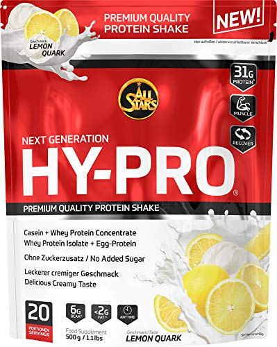 All Stars Hy-Pro Protein, Lemon-Quark, 1er Pack (1 x 500 g)