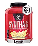 BSN SYNTHA-6 Whey Protein Powder, Micellar Casein, Milk Protein Isolate Powder, Banana, 48 Servings (Package May Vary)